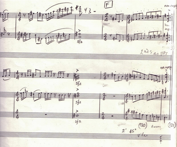 Part of Adam Pounds' Sonatina for Oboe, with Lennox Berkeley's corrections